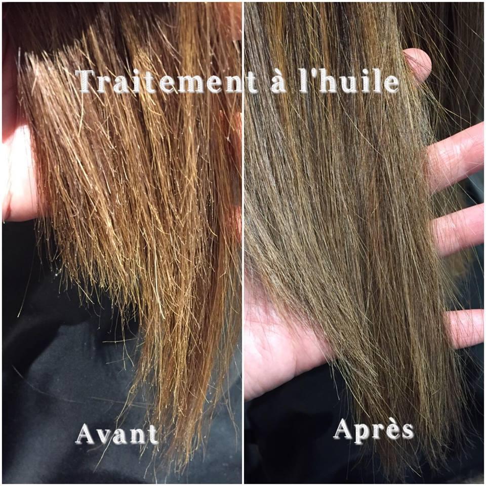 Le sérum pour les cheveux ejvon les huiles
