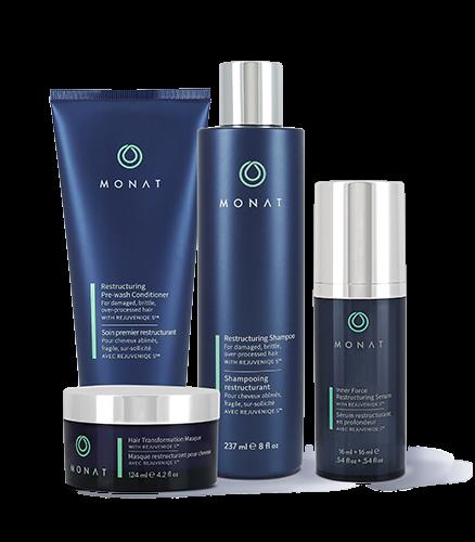 produits Monat pour les cheveux